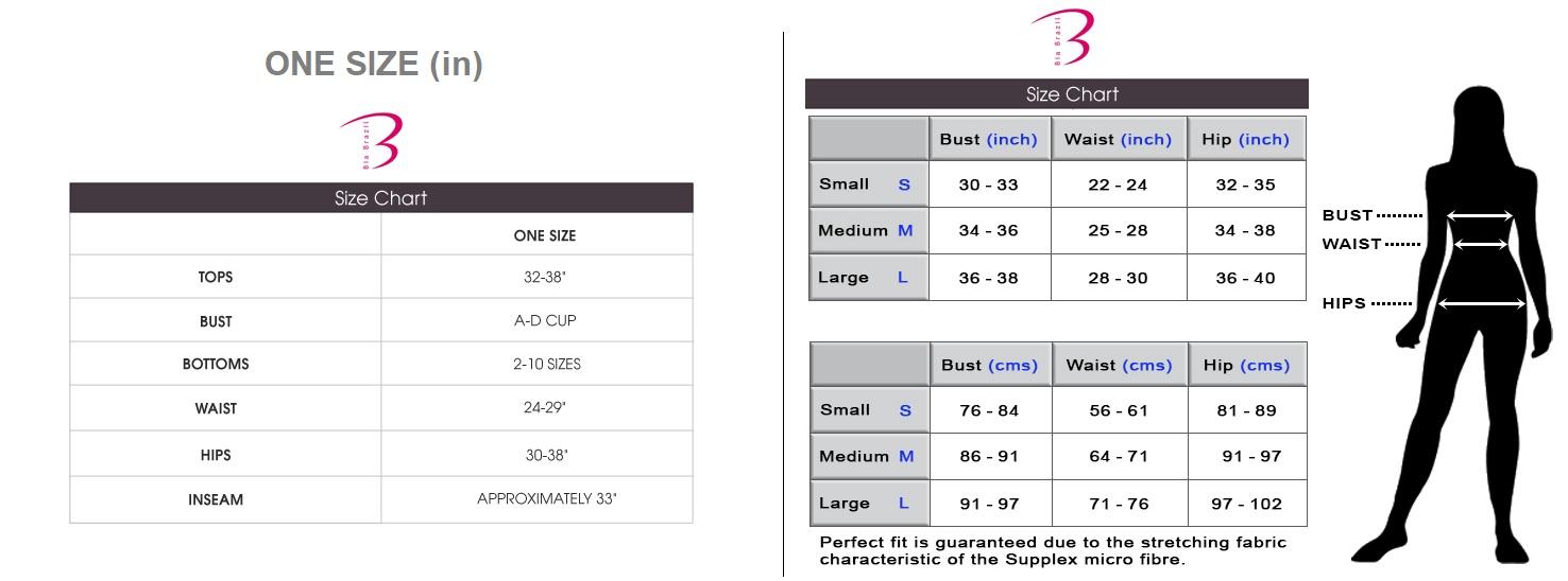 Bia Brazil Size Chart