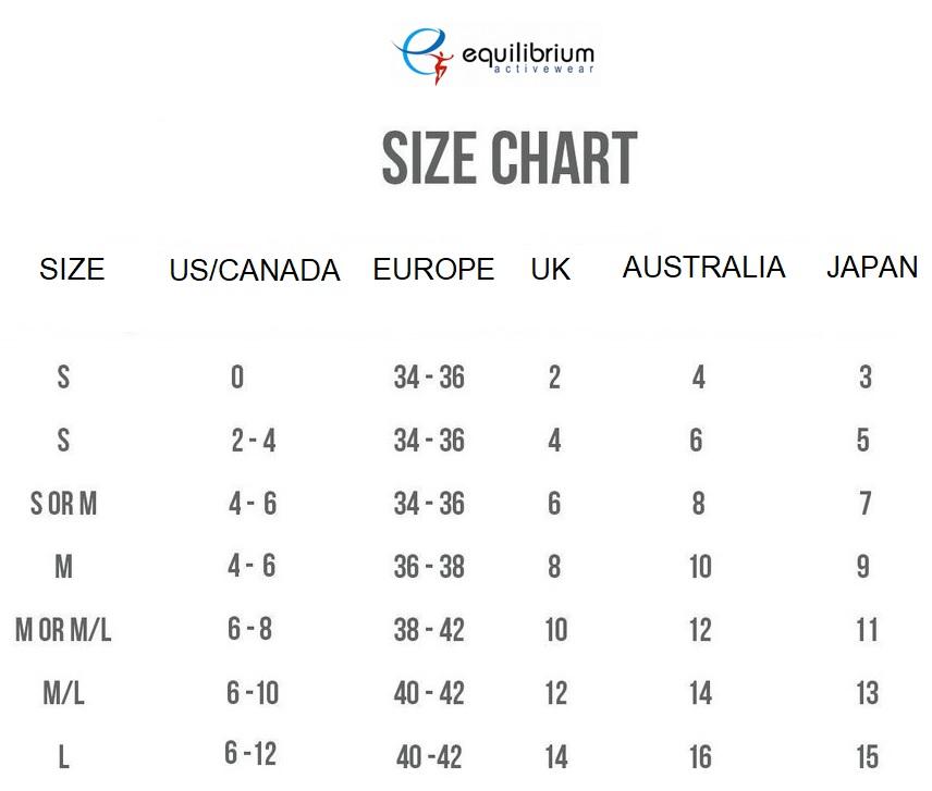 Equilibrium Size Chart