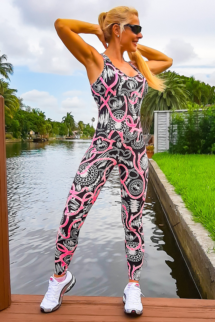 C-Sports Brazil Jumpsuit Fitness Sportswear Workout Clothing Gym