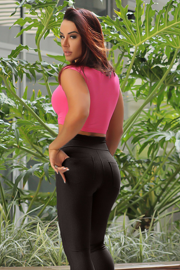 Black workout leggings for women