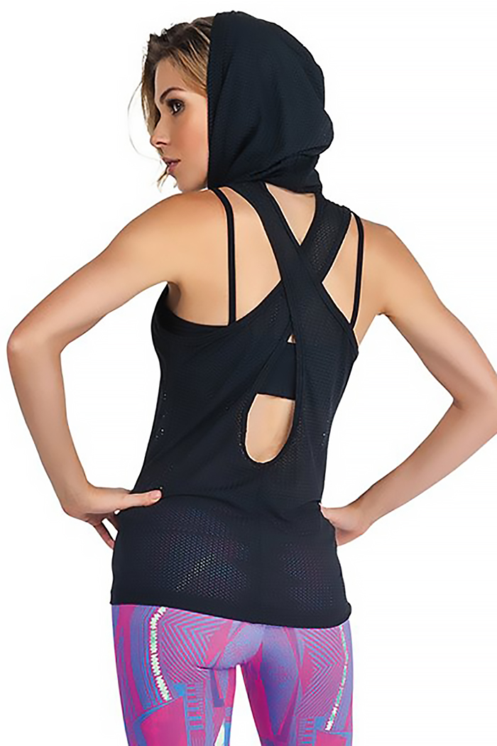 fitness mesh top for women